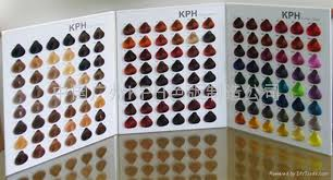 colour charts for hair