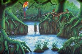 rainforest murals