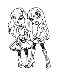 bratz baby coloring pages