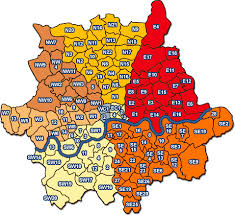 map of london areas