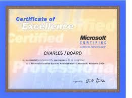 mcsa certificate