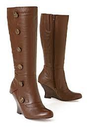 high button boots