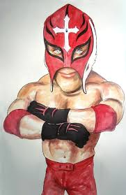 how to draw rey mysterio