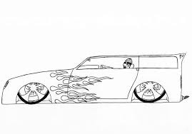 lowrider car drawing