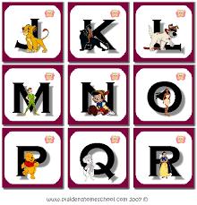 disney alphabet letters