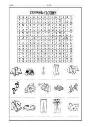crossword clothes