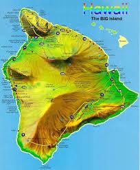 hawaii map big island