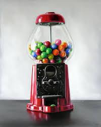 antique bubble gum machine