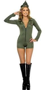 combat girl costume