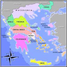 wyspy greckie mapa