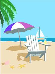 beach scene clip art