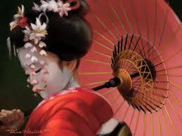 painting geisha