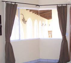 corner window curtain