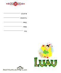 free luau invitations