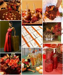 brown and red wedding colors