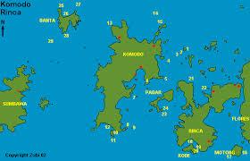map of komodo island
