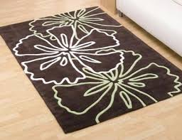 brown and white rugs