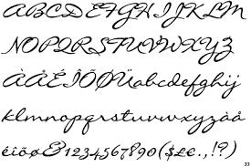 elegant handwriting