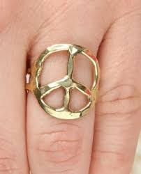 gold peace sign ring