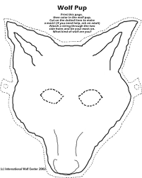 paper wolf mask