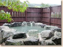 outdoor bath house