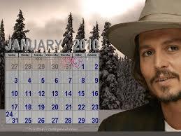 johnny depp calendar