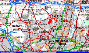 map of north london