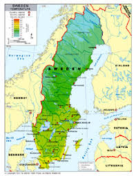 climate map of sweden