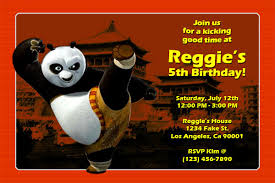 kung fu panda birthday invitations