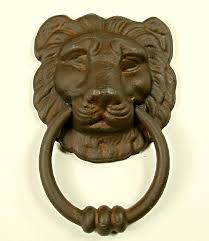 lion head door knockers