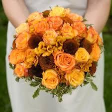 orange rose bridal bouquet