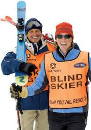 blind skiers