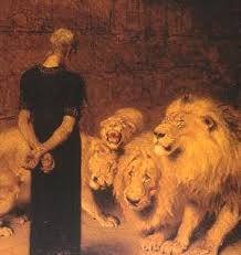 daniel and the lions den pictures