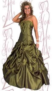 olive green prom dress