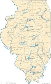 illinois map of rivers