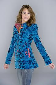 blue velvet coat