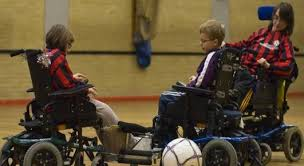 power chair football
