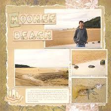 beach scrapbook layouts