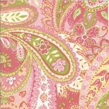pink and green paisley