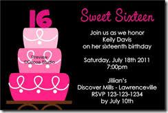16th invitations