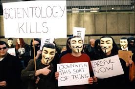 anonymous scientology protest