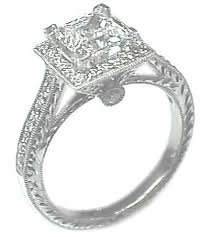 antique setting engagement ring