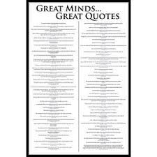 great minds great quotes poster