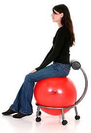 exercise ball seat