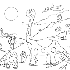 coloring pictures of dinosaurs