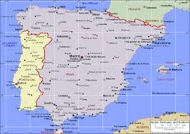map of portugal spain