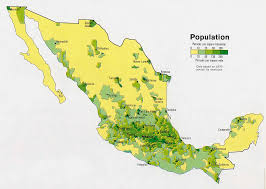 population map of mexico