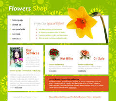 flower web template