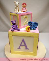 baby shower cakes blocks