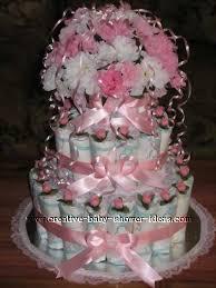 elegant diaper cake